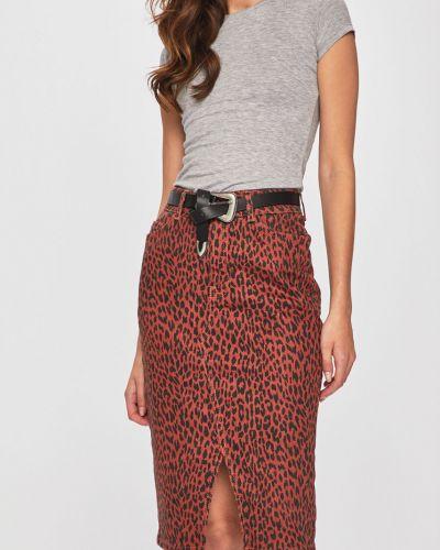 Прямая джинсовая юбка с поясом узкого кроя на пуговицах Answear