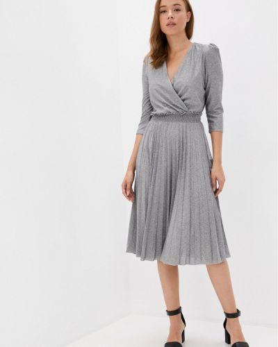 Серебряное вечернее платье Rinascimento