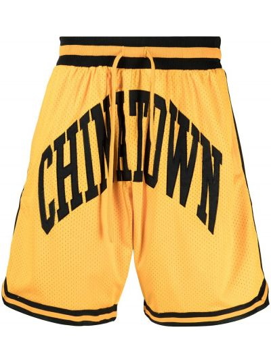 Żółte szorty z printem Chinatown Market