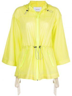 Нейлоновая желтая спортивная куртка с капюшоном Marchesa