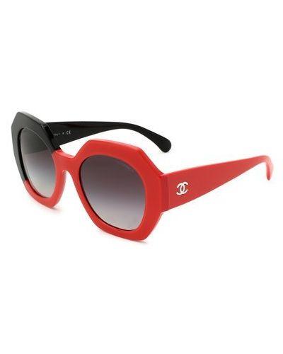 Красные солнцезащитные очки Chanel