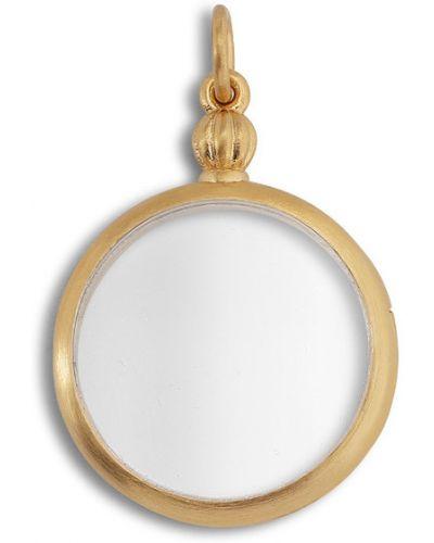 Biały złoty medalion elegancki Jane Kønig