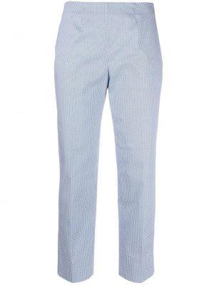 Niebieskie spodnie bawełniane z printem Piazza Sempione