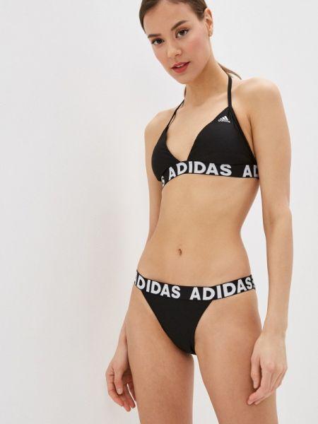 Пляжный черный купальник Adidas