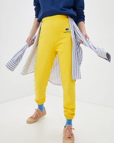 Желтые спортивные брюки Chiara Ferragni Collection