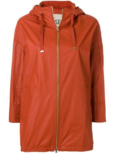 Длинное пальто айвори Herno