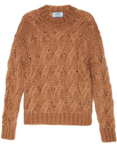 Ажурный свитер с косами Prada