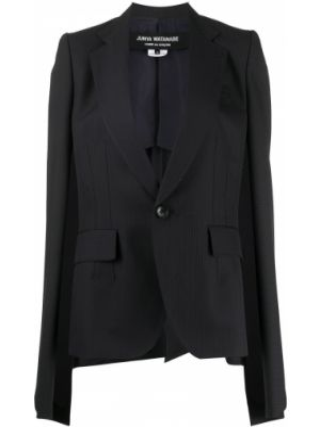 Приталенный синий пиджак с карманами Junya Watanabe