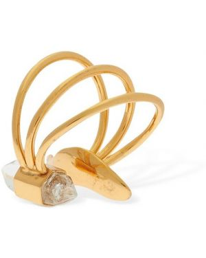 Złote kolczyki ze złota kwarc Cornelia Webb