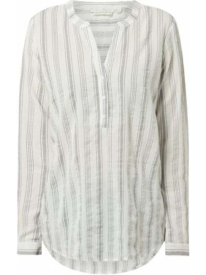 Tunika z wiskozy - biała Tom Tailor Denim