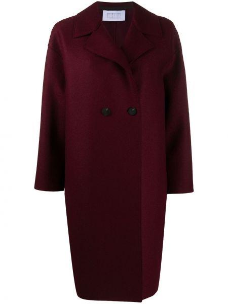 С рукавами фиолетовое длинное пальто свободного кроя Harris Wharf London