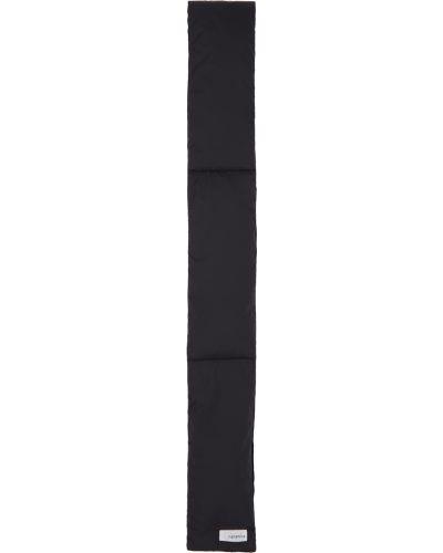 Czarny szalik bawełniany Nanamica