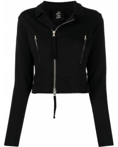 Черная короткая куртка на молнии с воротником Thom Krom