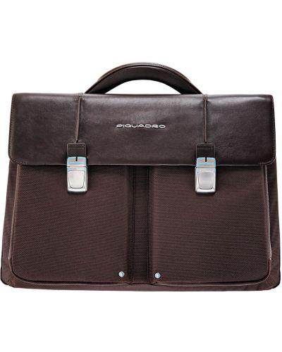 Портфель текстильный коричневый Piquadro