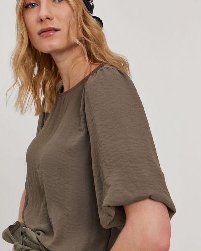 Zielona bluzka krótki rękaw na co dzień Vero Moda