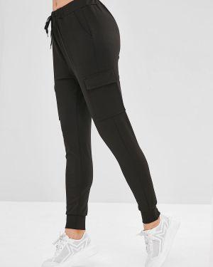 Спортивные брюки с накладными карманами с заплатками Zaful