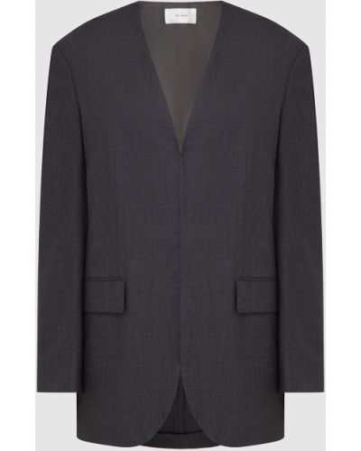 Шерстяной серый пиджак The Row