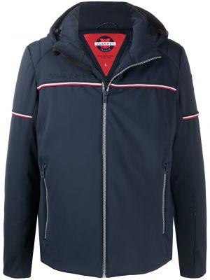Синяя спортивная куртка с нашивками на молнии Vuarnet