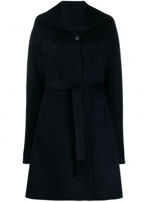 Шерстяное пальто - синее Aspesi