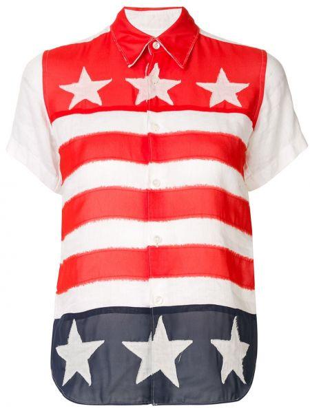 Белая рубашка с коротким рукавом с воротником винтажная на пуговицах Junya Watanabe Comme Des Garçons Pre-owned