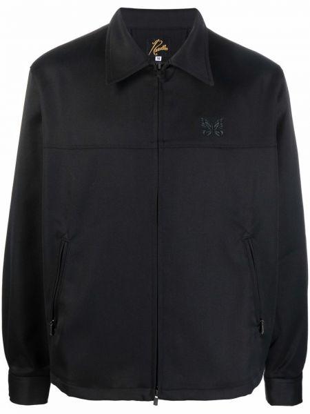 Czarna klasyczna kurtka Needles
