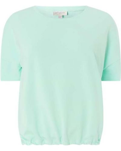 Bluzka bawełniana krótki rękaw turkusowa Only Carmakoma