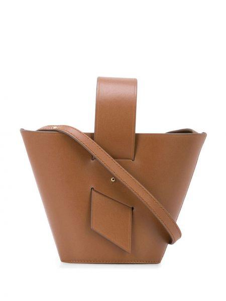 Кожаная коричневая сумка-тоут Carolina Santo Domingo