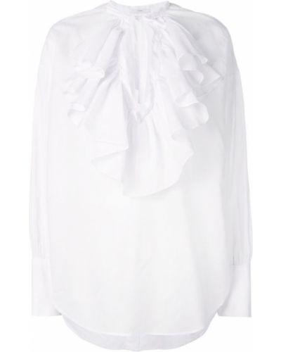 Блузка с длинным рукавом с оборками с манжетами на пуговицах Tome