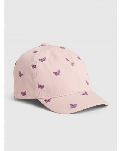 Różowa czapka bawełniana Gap