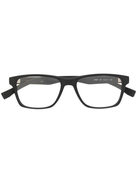 Czarny oprawka do okularów plac wytłoczony za pełne Lacoste