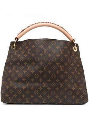 Коричневая плетеная кожаная сумка-тоут Louis Vuitton
