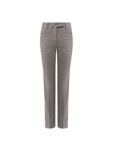 Мягкие серые брюки с воротником для офиса Paul&joe