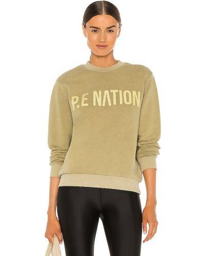 Зеленый ватный хлопковый свитшот P.e Nation