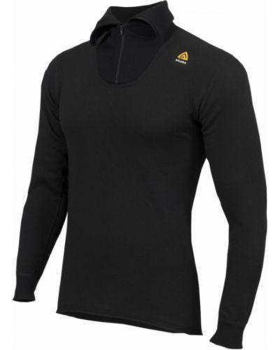 Приталенная черная футболка с длинными рукавами Aclima