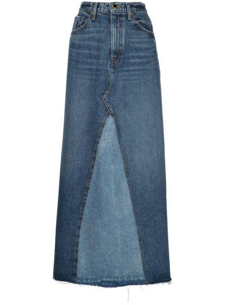 Классическая с завышенной талией юбка макси на молнии с поясом Khaite
