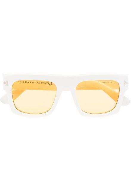 Akryl biały okulary przeciwsłoneczne Tom Ford