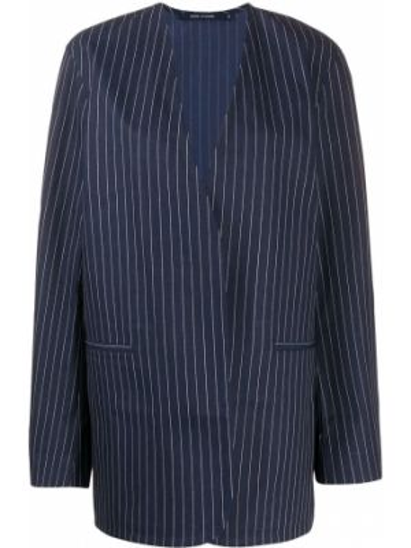 Хлопковый синий удлиненный пиджак свободного кроя Sofie D'hoore