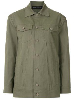 Классическая зеленая куртка с воротником на пуговицах Gloria Coelho