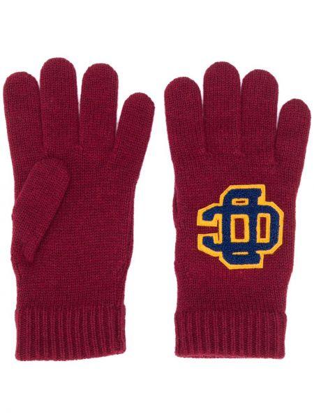 Prążkowane rękawiczki wełniane Dsquared2
