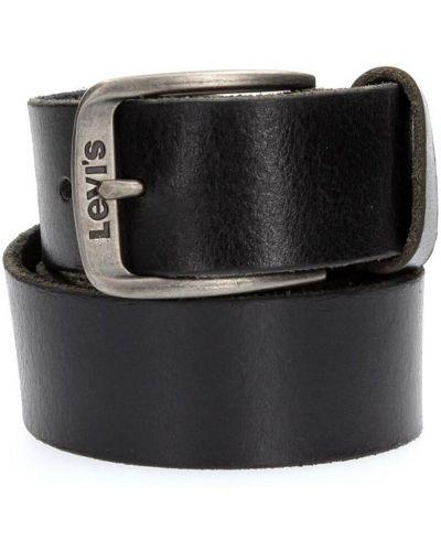 Pasek srebrny - czarny Levi's