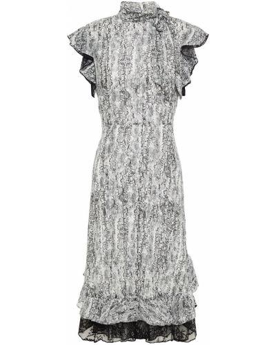 Кружевное платье из крепа на крючках Mikael Aghal