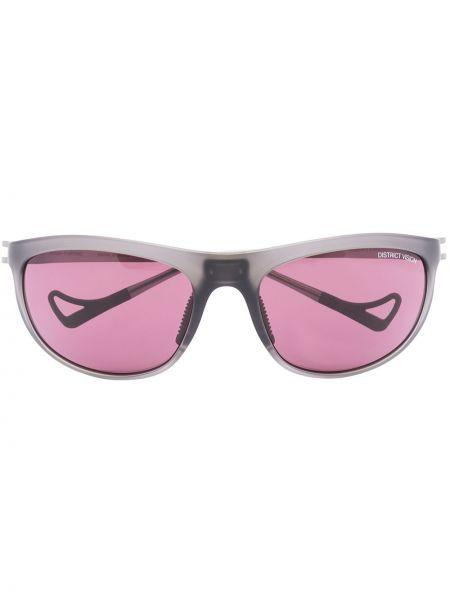 Czarne okulary z akrylu z printem District Vision