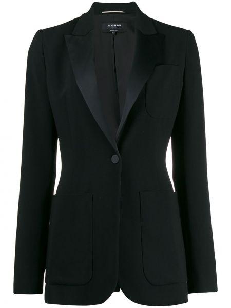 Черный пиджак с карманами на пуговицах Rochas