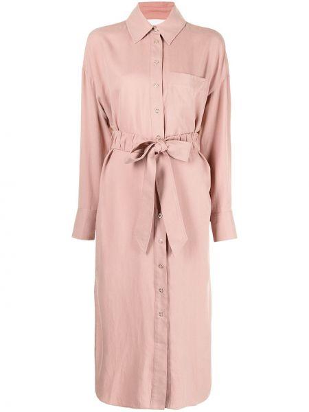 Розовое прямое платье Ginger & Smart