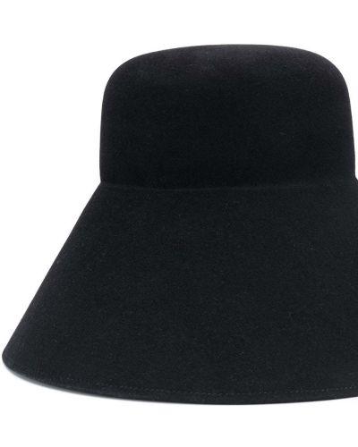 Bezpłatne cięcie wełniany czarny kapelusz bezpłatne cięcie Nina Ricci