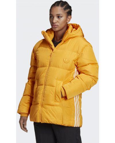Пуховик - золотой Adidas