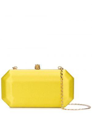 Кожаная золотистая желтая сумка на цепочке Tyler Ellis
