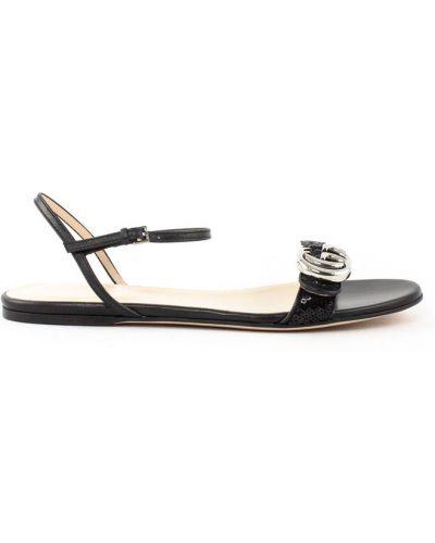 Czarne sandały Gucci