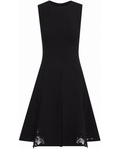 Кружевное платье мини - черное Oscar De La Renta
