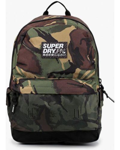 Текстильный городской рюкзак хаки Superdry